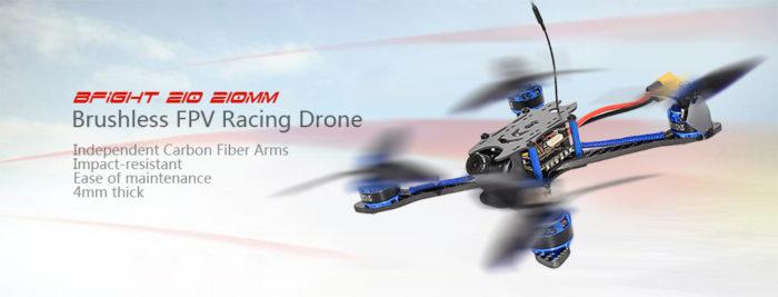 Bfight 210 - závodní dron s váhou 267 gramů