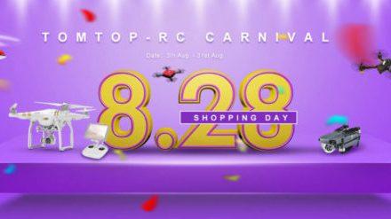 DJI, Yuneec a další drony v akci s názvem RC Carnival na TomTop.com
