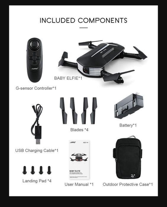JJRC H37 Mini Baby Elfie - nástupce oblíbené skládačky v prodeji