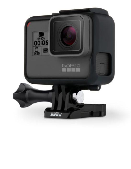 GoPro Hero 6 Black - přední strana - držák