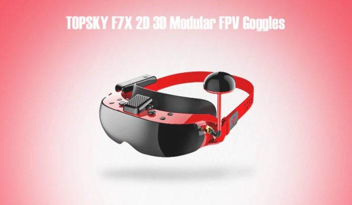Topsky F7x - modulární FPV brýle s HD displeji