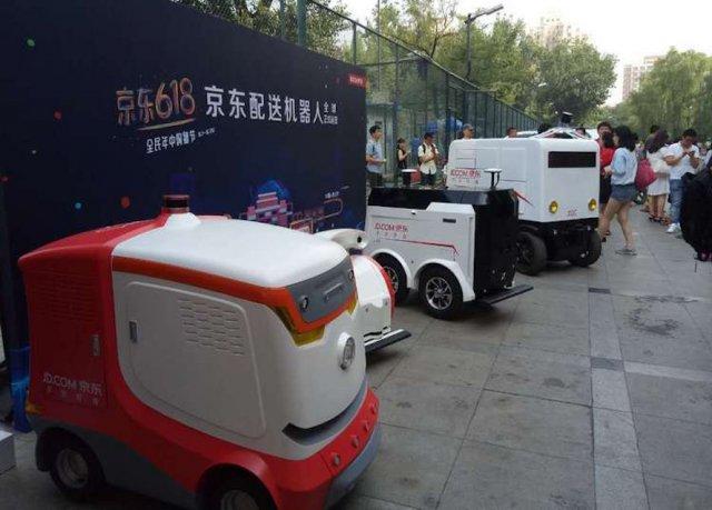 robotická vozidla JD.com