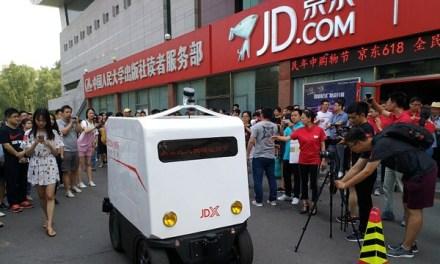 V Číně testují robotická vozidla, která sama doručí zásilku