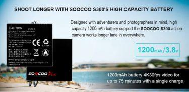 SOOCOO S300 4K 30FPS Sports Camera 2.35 Touchscreen Hi3559V100 IMX377 EIS Wifi External Mic GPS (8)