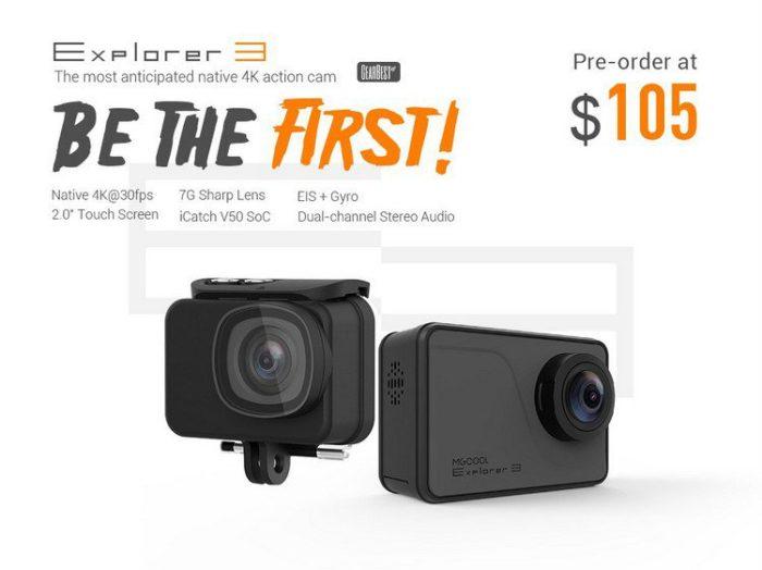 Kamera MGcool Explorer 3 4K ve slevě