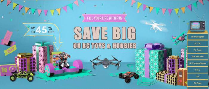 Drony, závodní koptéry a další RC modely v akci na Gearu