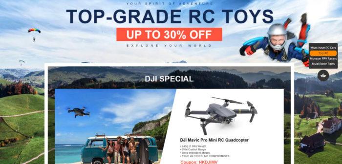 Drony DJI a race koptéry koupíte za akční ceny