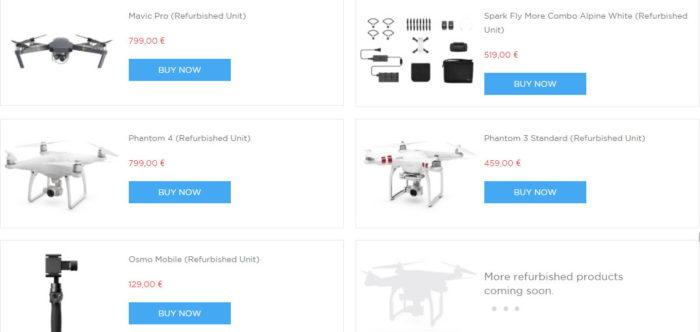repasované drony DJI