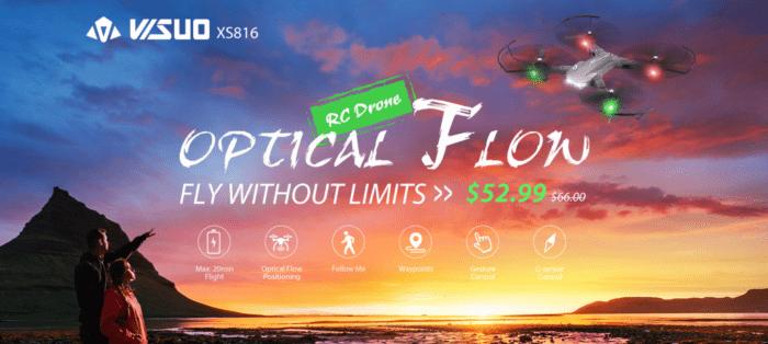 Tianqu Visuo XS816 - levný dron s 20 minutovou výdrží a 2 kamerami