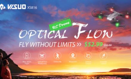 Tianqu Visuo XS816 – levný dron s 20 minutovou výdrží a 2 kamerami