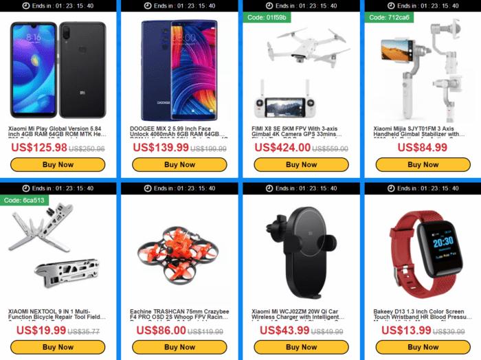 výprodej elektroniky na Banggood