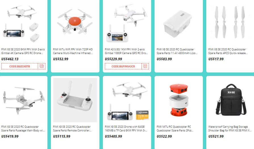 droní výprodej na banggoodu