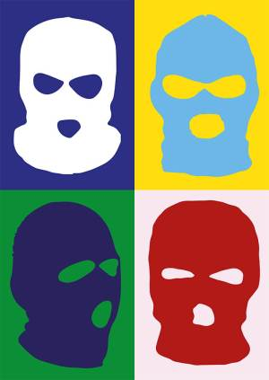 contemporary Balaclava art print by max blackmore