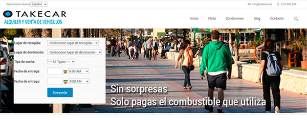 Página web para rent a car con WordPress