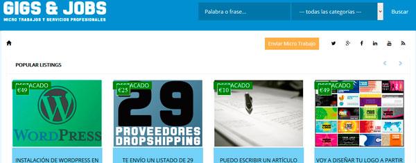 Diseño de página web para micro trabajos