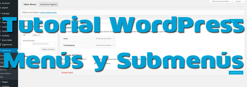 tutorial wordpress menus y submenus