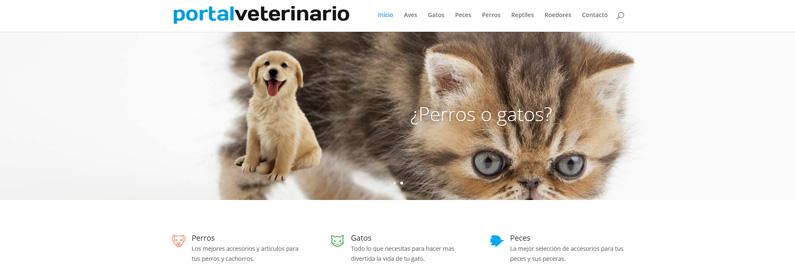 Portal WordPress para veterinarios y mascotas