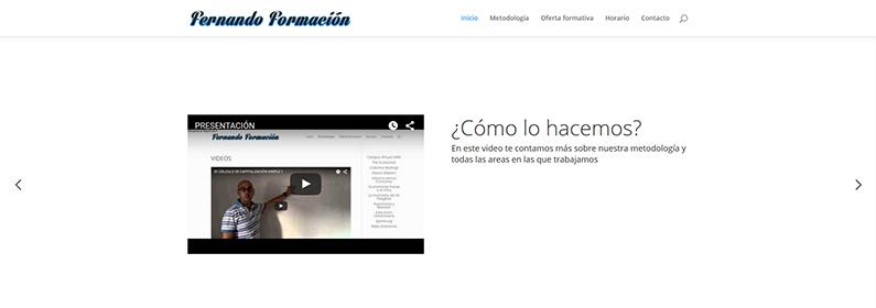 Diseño web para academia de formación en Málaga