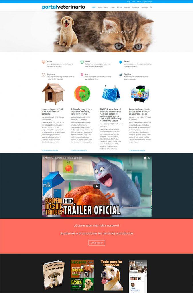 Portal veterinario en WordPress para afiliados