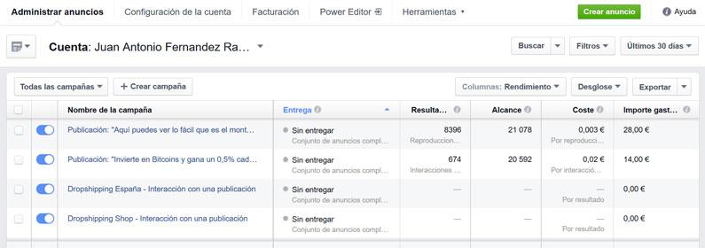 Campañas de anuncios en Facebook por 0,003 euros
