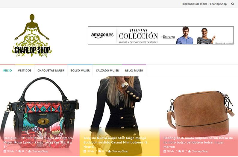 Nuevo blog de tendencias con el sistema de afiliados de Amazon
