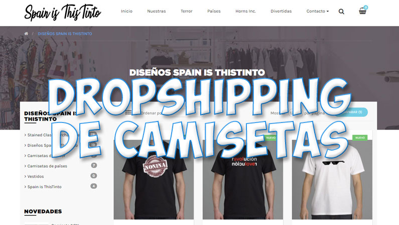 Dropshipping de camisetas, montar una tienda de camisetas sin stock