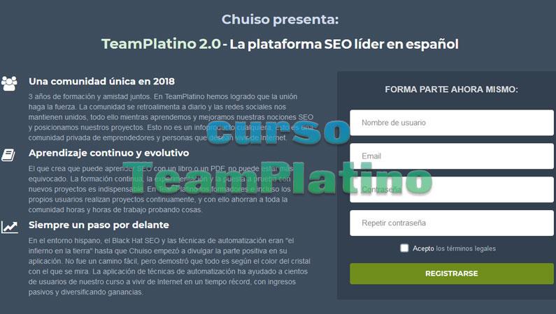 Curso TeamPlatino de SEO by Chuiso