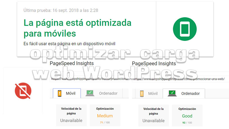 Optimizar la carga web en WordPress