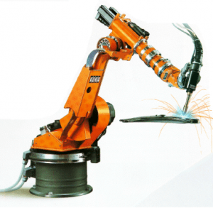 Robotic arm for welding tasks.