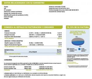 Factura monofásica Iberdrola