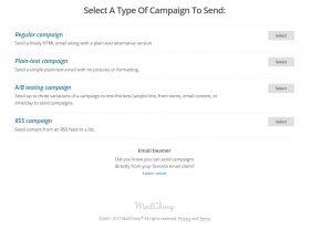 Crear Campaña Mailchimp