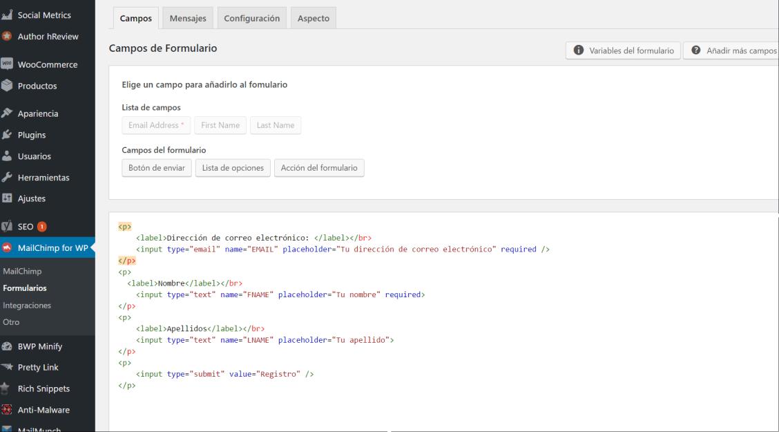 how to add mailchimp popup to wordpress