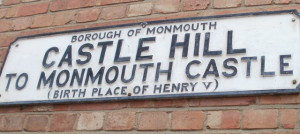 monmouth castle sign