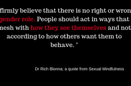 Sexual Mindfulness Book: Ch. 5 Your Gender Role