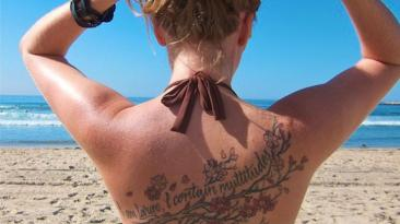 tattoo at the beach
