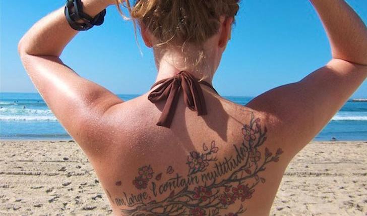 tattoo at the beach