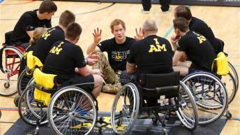 Invictus Games Prince Harry wheelchairs