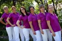 Team im Garten