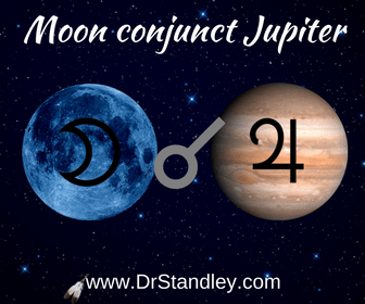 The Moon conjunct Jupiter aspect on DrStandleycom