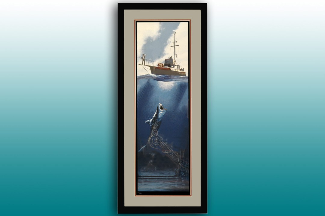 Framed Jaws artwork.