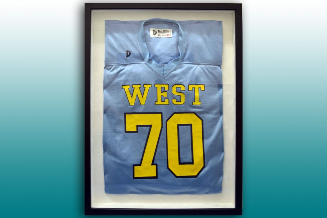 Putnam City West High School framed football jersey.