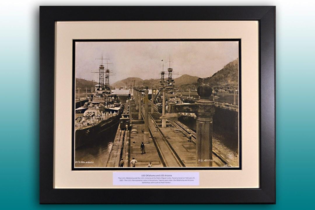 USS Oklahoma and USS Arizona