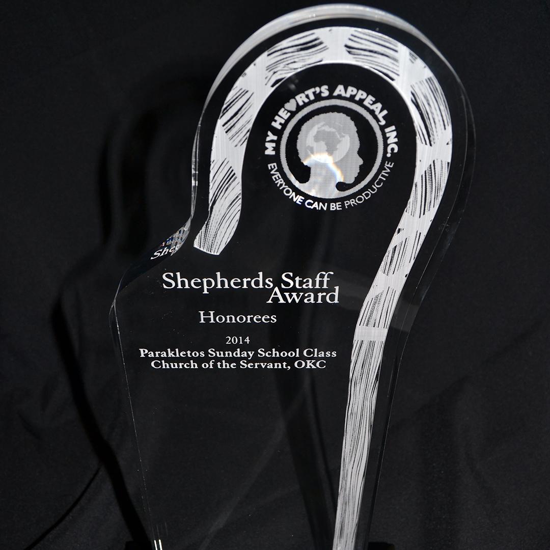 My Heart's Appeal Shepherds Staff Award