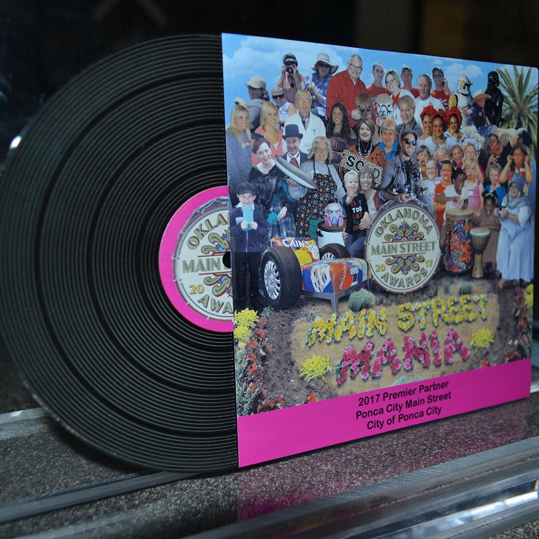 Main Street album acrylic