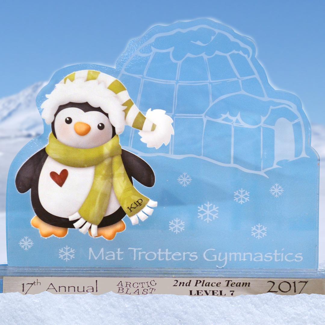 Gymnastics acrylic award