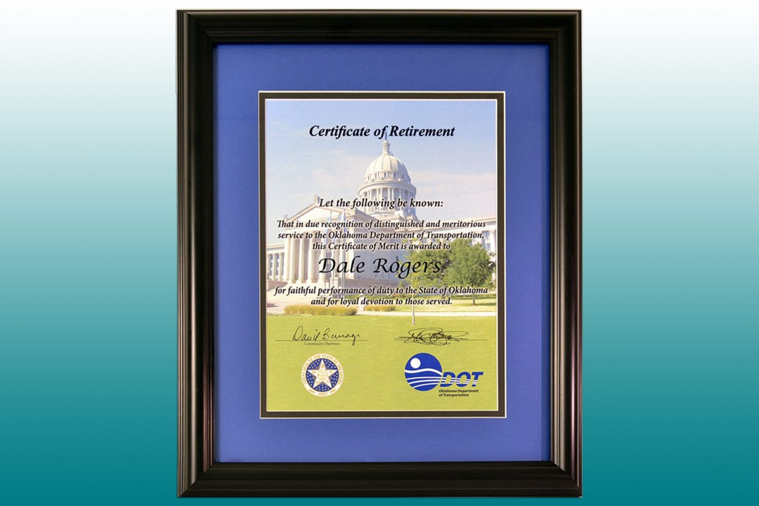 ODOT retirement frame