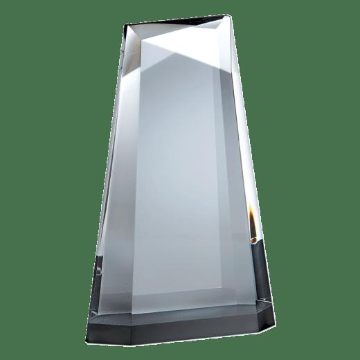 Blank Ascend crystal award.