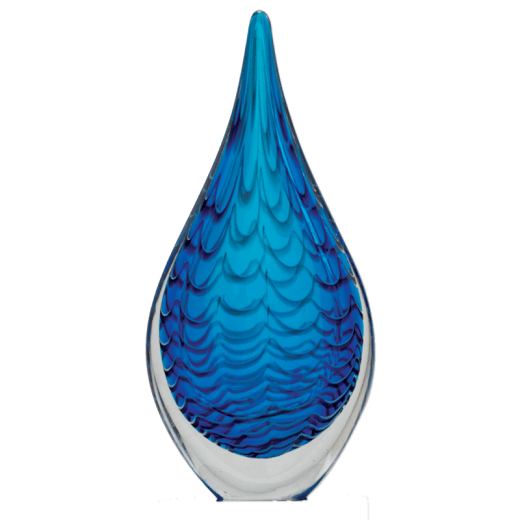Blue Raindrop Art Glass with no base.