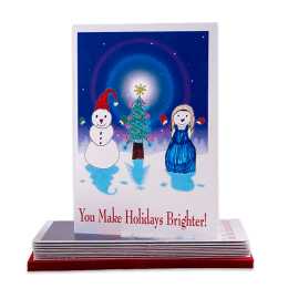 "Holidays Brighter cover design. ""You Make Holidays Brighter!"""