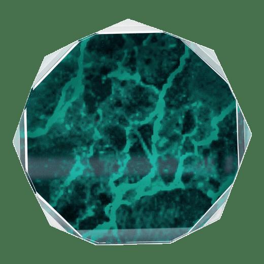 Green marble octagon acrylic.